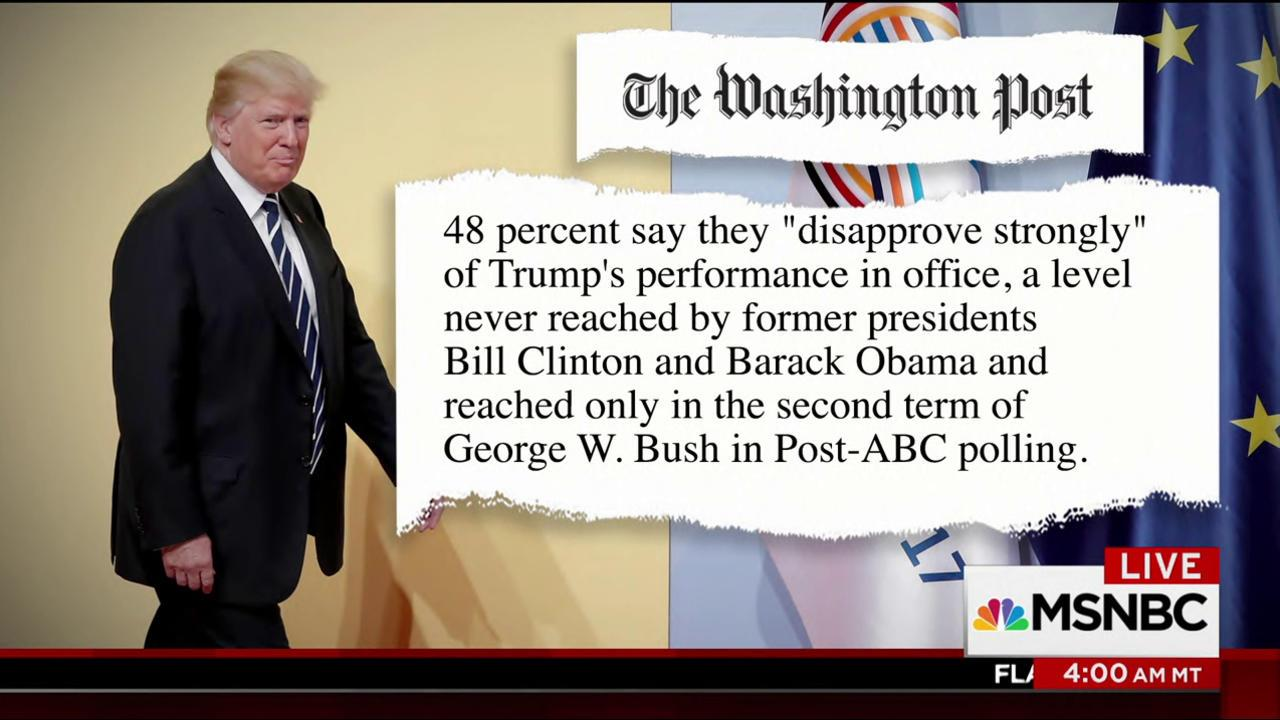 Trump numbers down, Obamacare numbers up...
