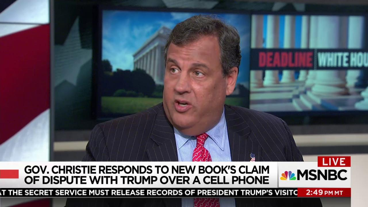 Christie: 'No call' from Obama to Trump on...