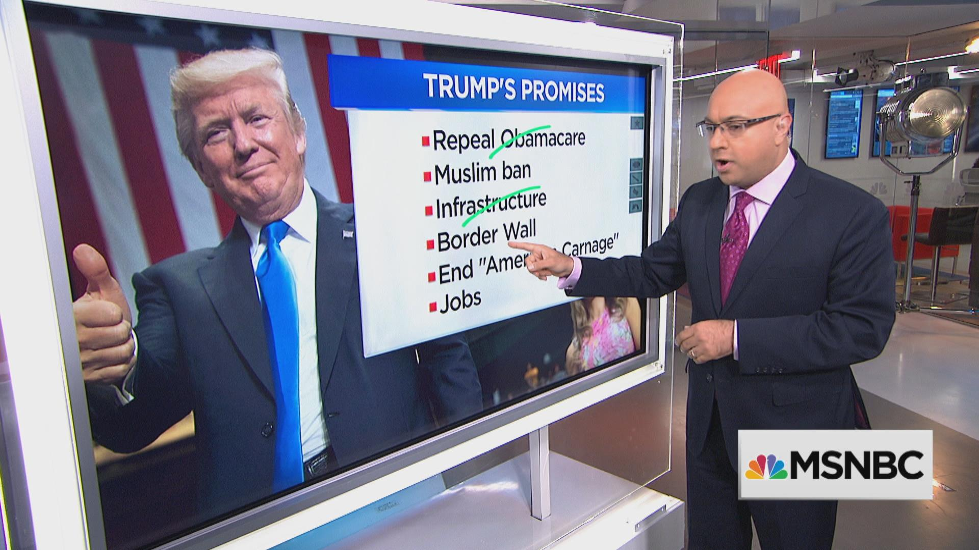 Tracking Trump's promises after Obamacare...