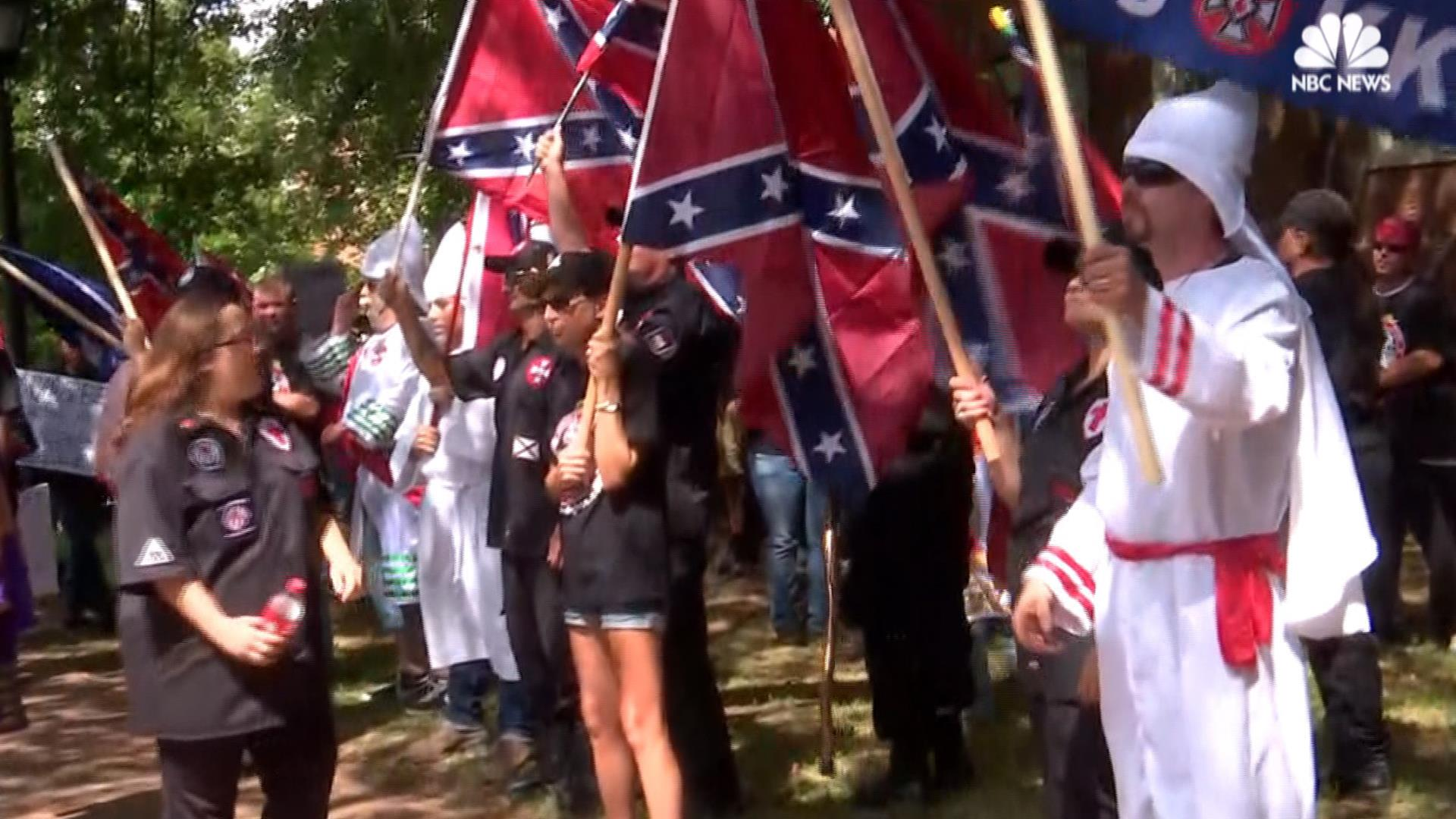 KKK Holds Rally in Charlottesville, Virginia - NBC News