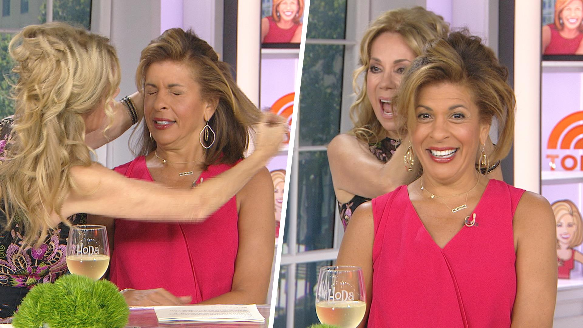 Watch Kathie Lee Try To Do Something With Hoda Kotbs Hair