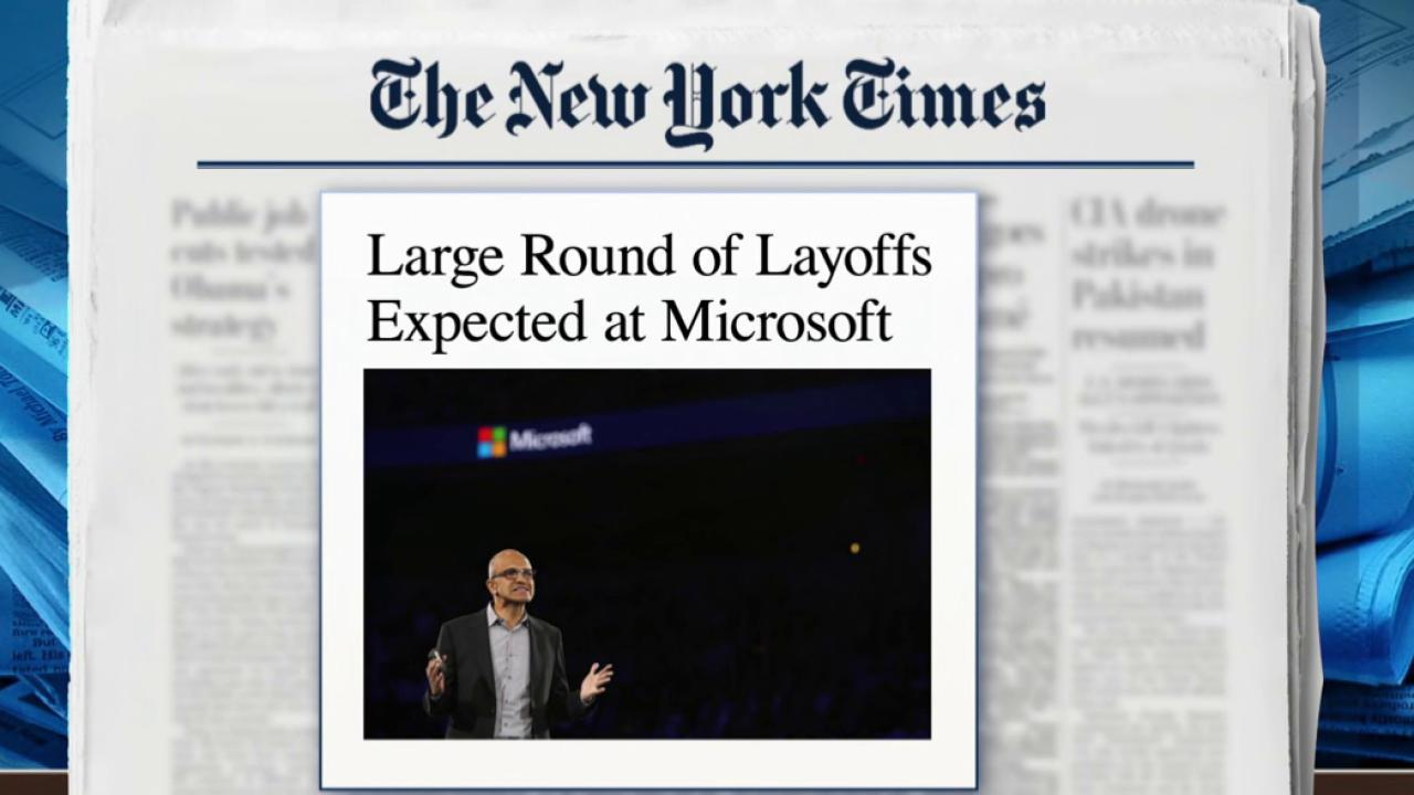 Major layoffs expected at Microsoft