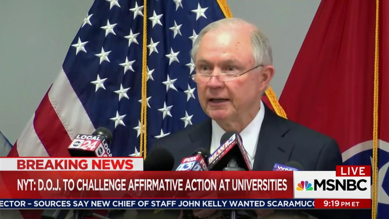 Trump DoJ to attack affirmative action