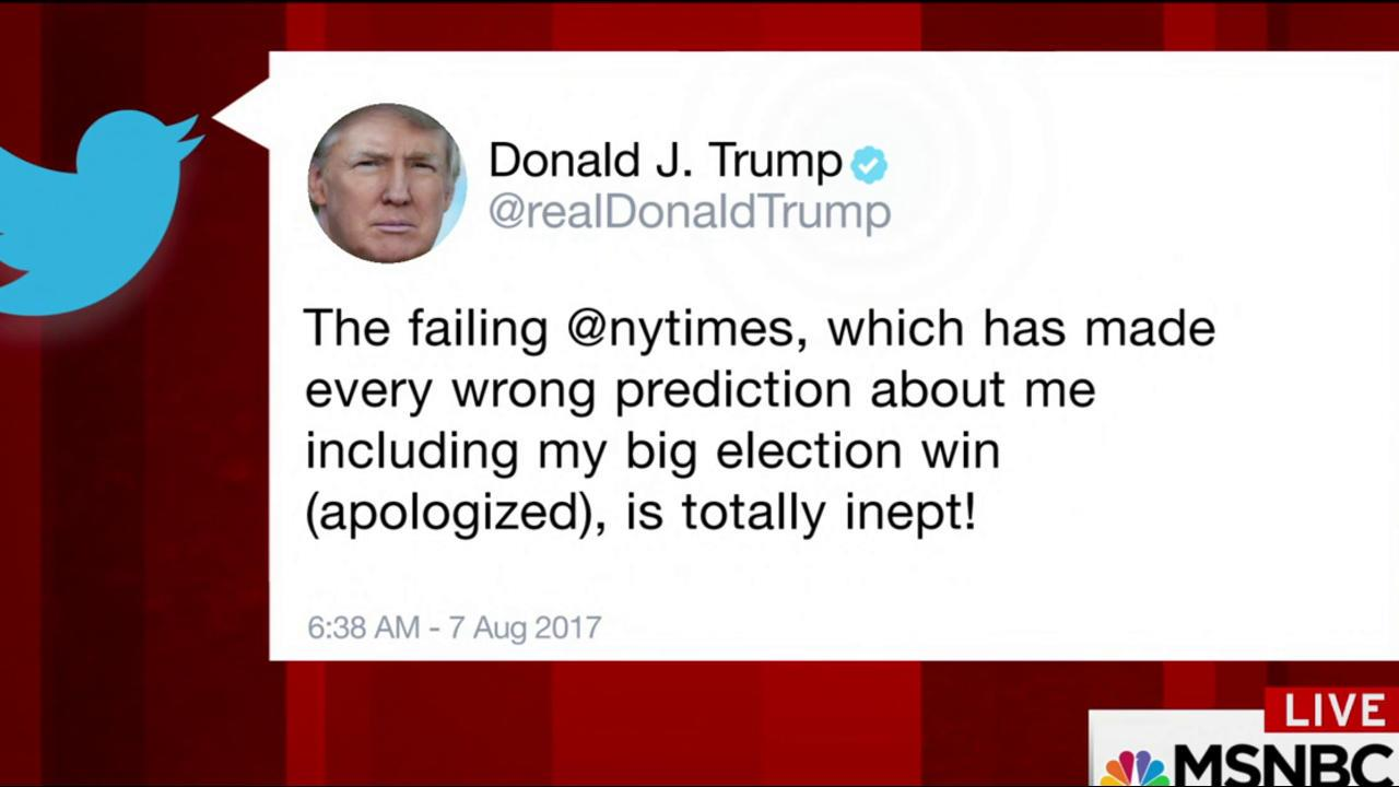 NYT reporter offers on-air response to...