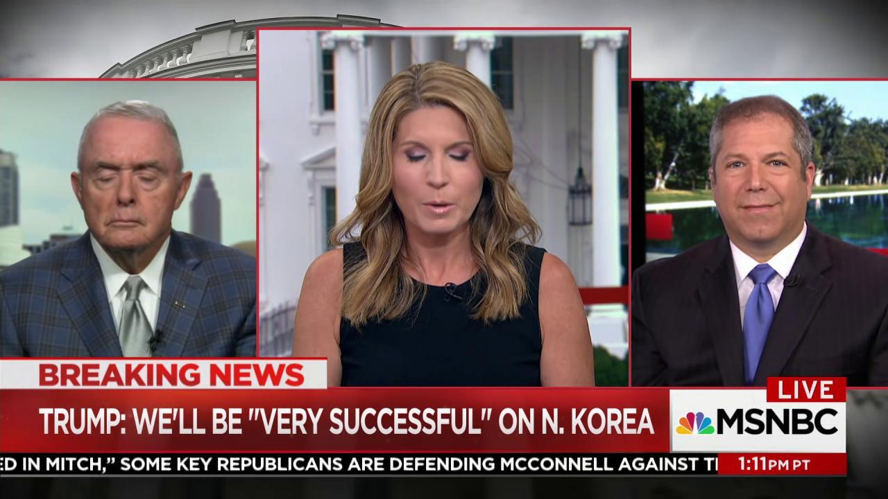 Gen. McCaffrey: 'The President is saying...