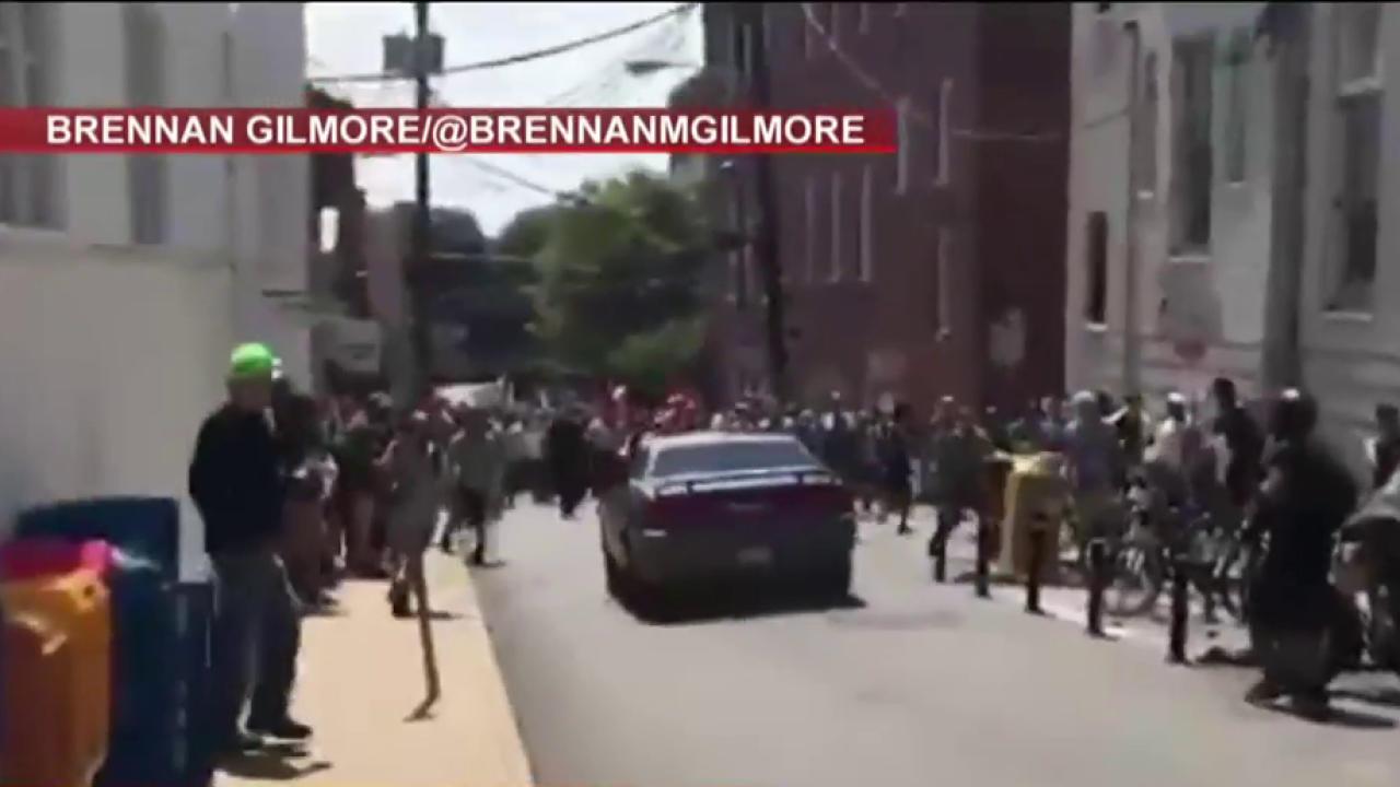 Eyewitness describes car plowing through...