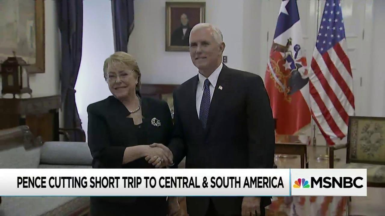 Pence unexpectedly cuts foreign trip short