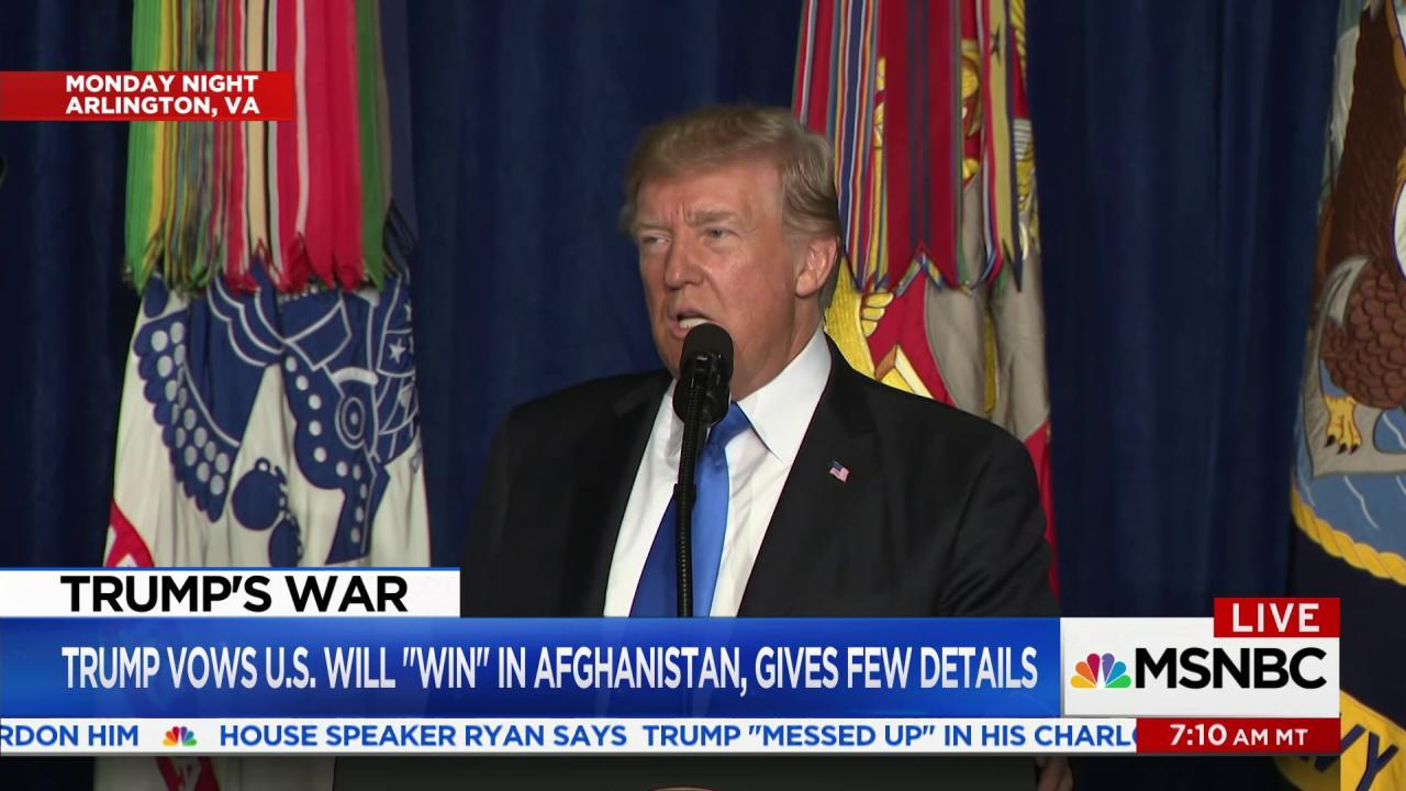 "Iraq Vet slams Trump's policy as ""self..."