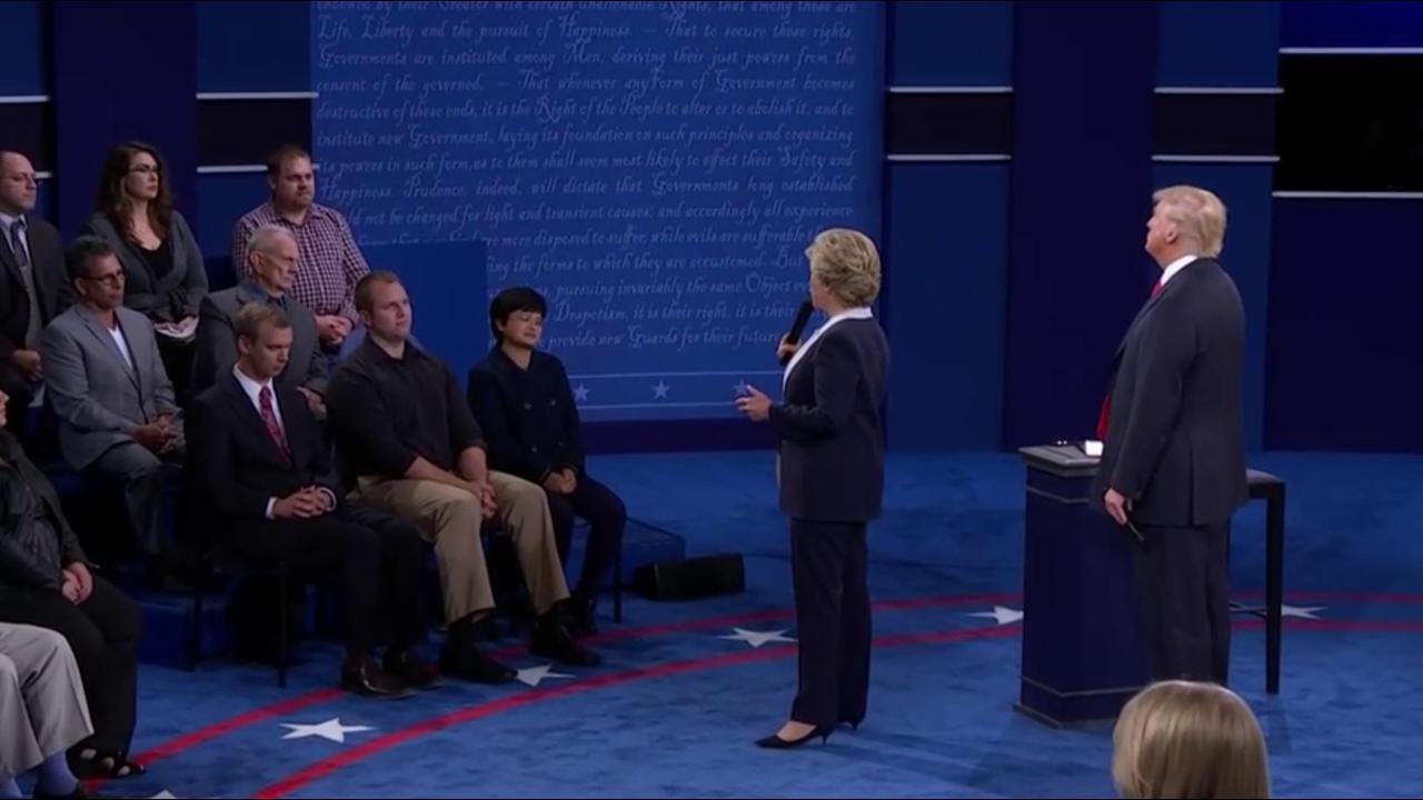 Clinton: My 'skin crawled' when Trump...