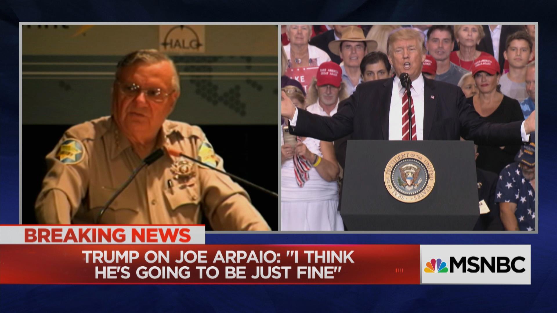Trump hints he'll pardon convicted Sheriff...