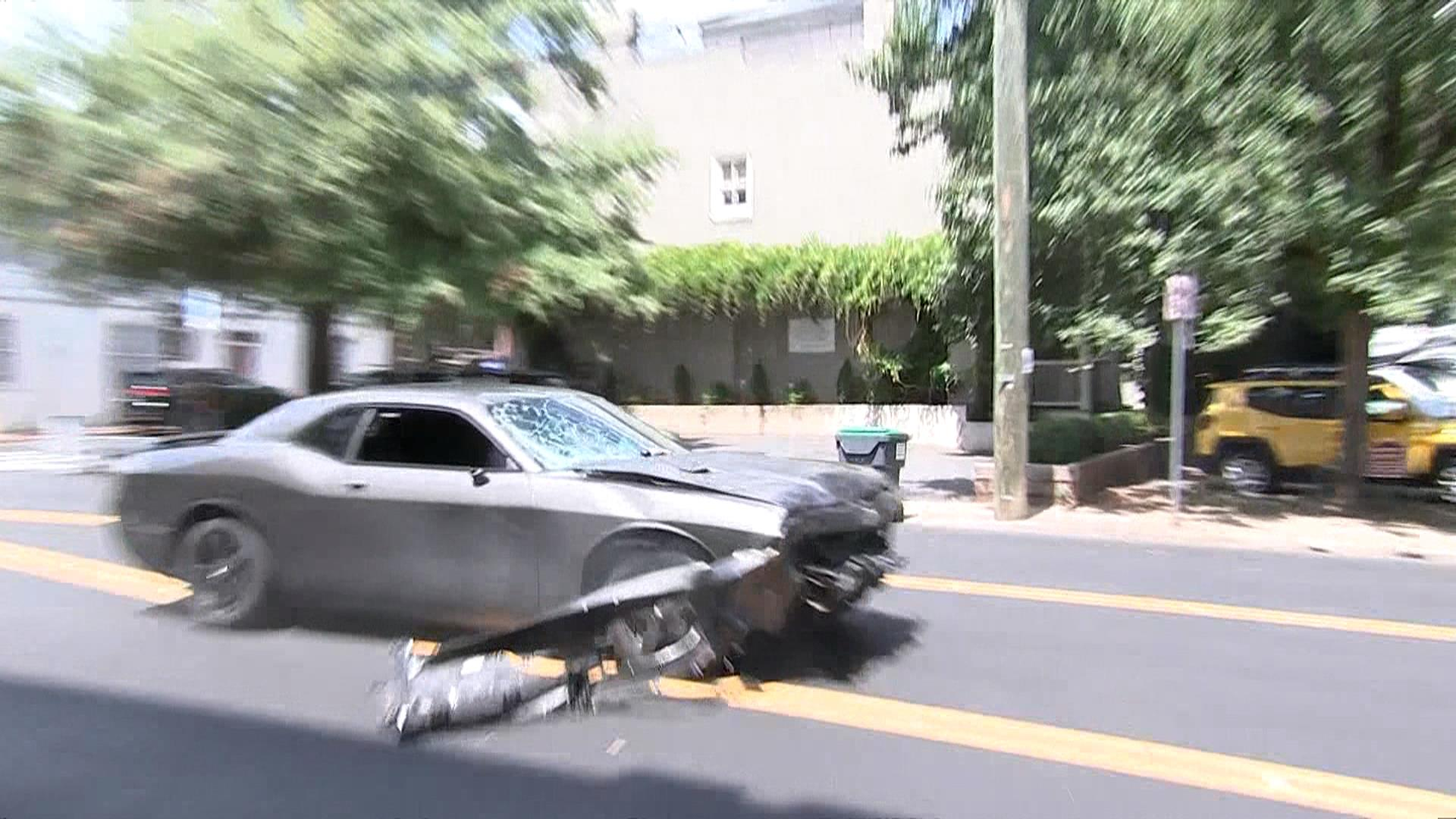 Gray Dodge Charger that plowed into crowd in Charlottesvile spotted ...