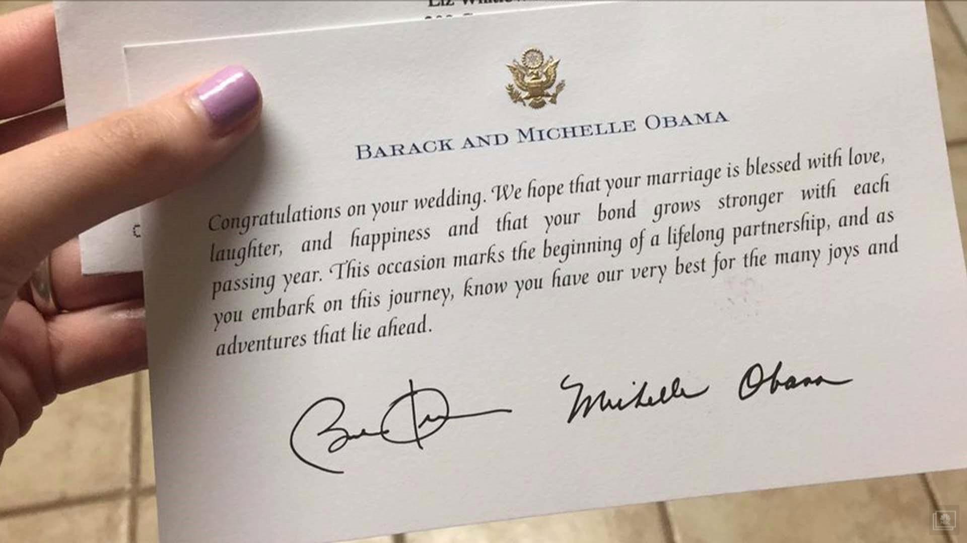 You have to read the obamas response to this cute couples wedding mom invites obamas to her daughters wedding and they reply kristyandbryce Choice Image