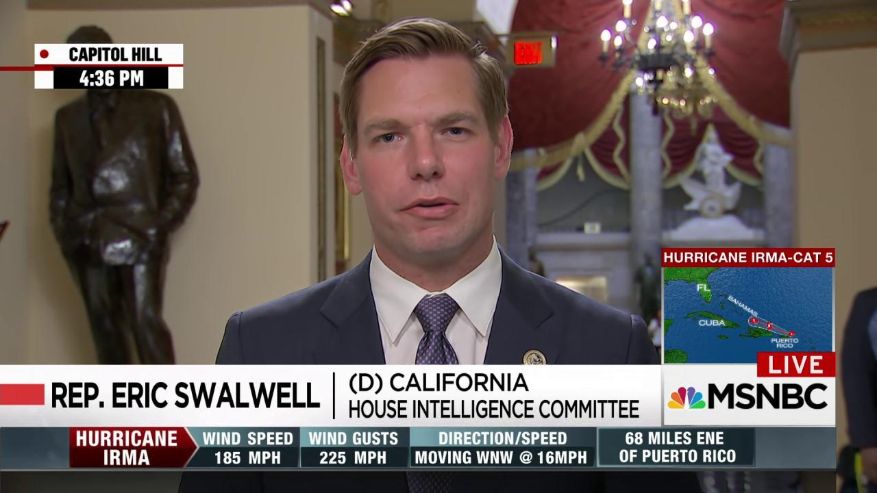 Swalwell: Unfortunately, House Intel...