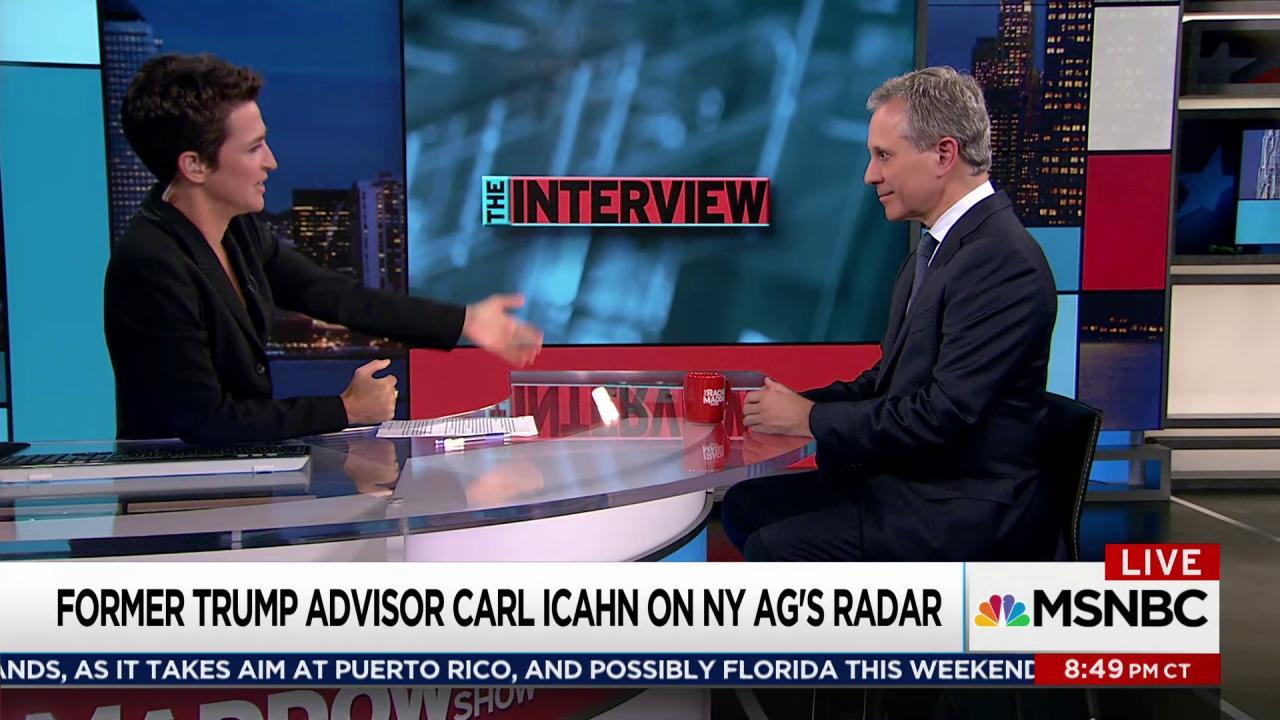 Icahn story could be case for Schneiderman