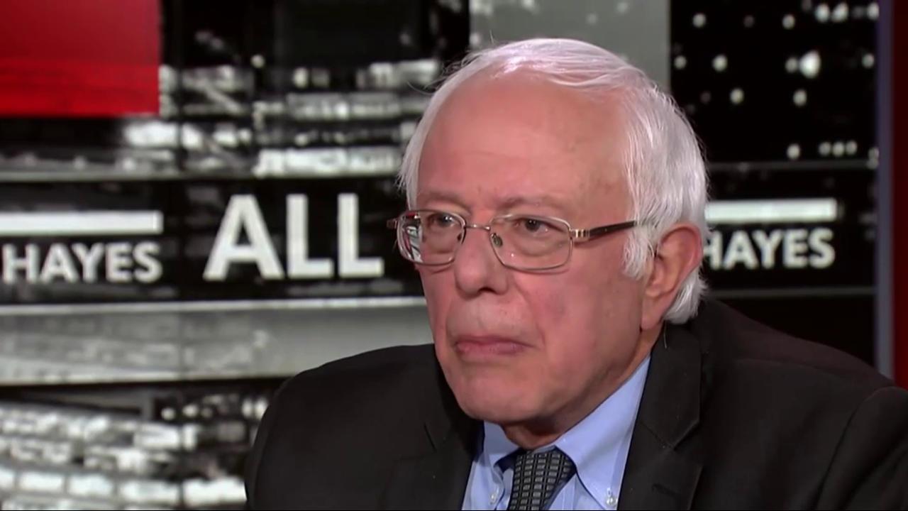 Bernie Sanders reacts to Hillary Clinton's...