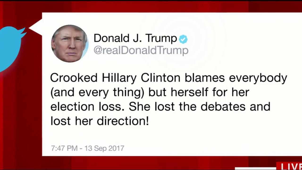 Trump revives 'Crooked Hillary' title in...