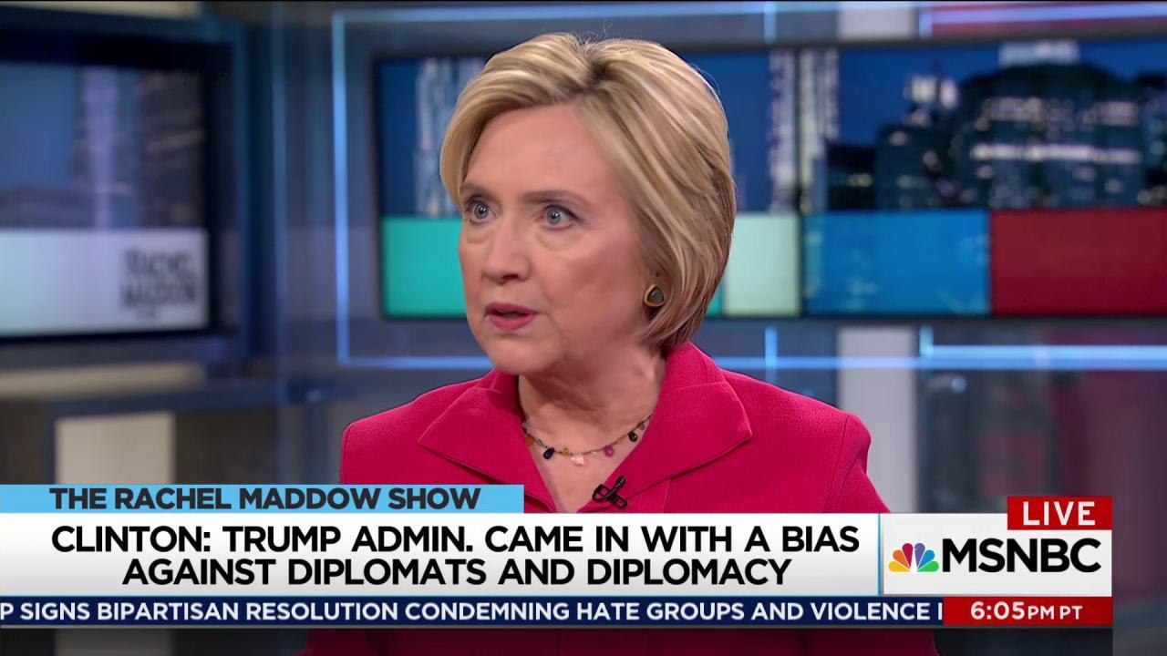Clinton to Trump: Get over the Twitter stuff