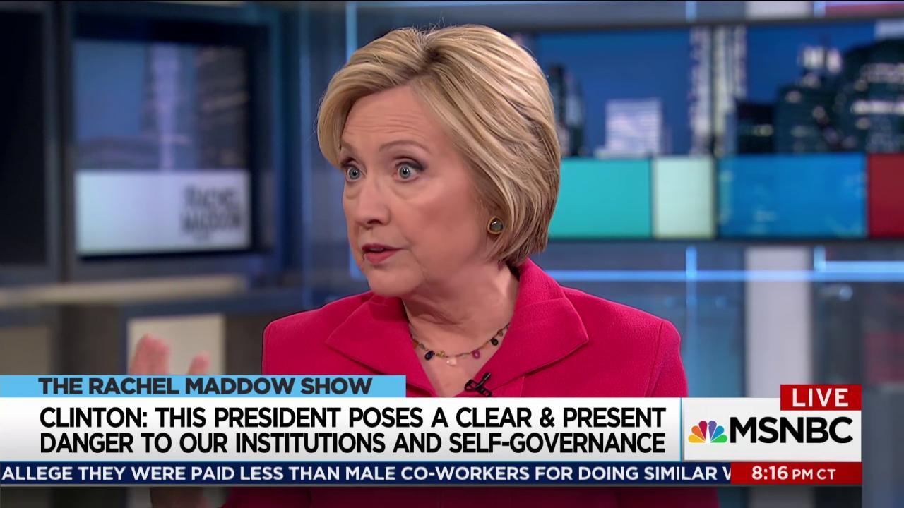Clinton: Trump a clear and present danger