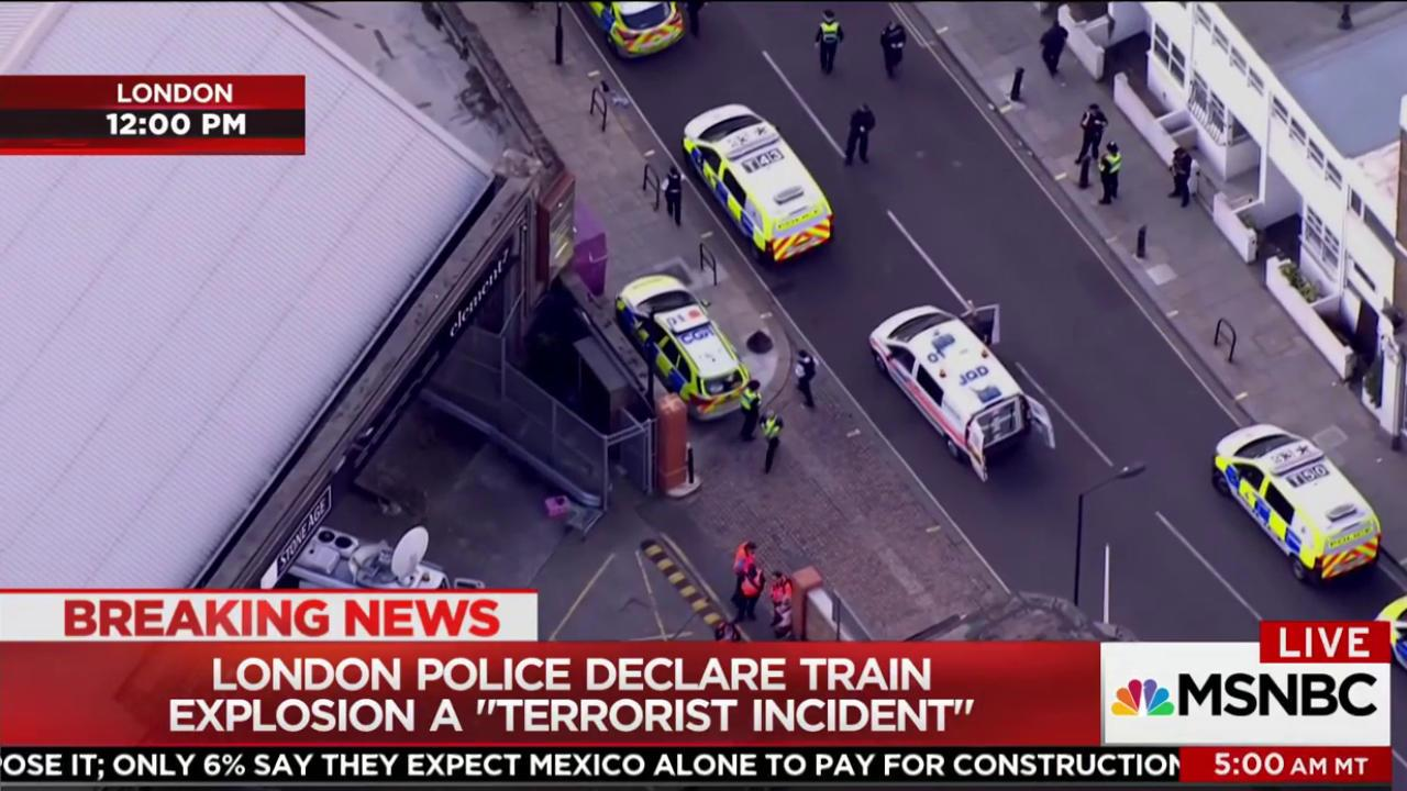 London 'terrorist incident' injures commuters