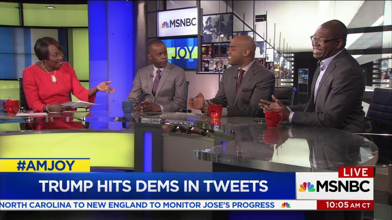 Trump's latest tweets and retweets draw...