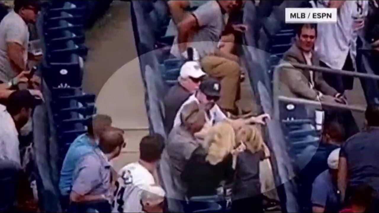 child hit by foul ball