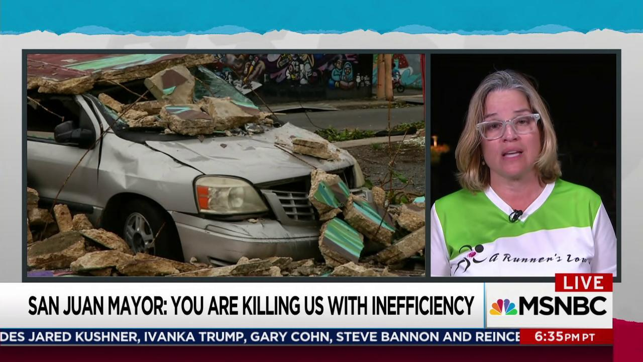 San Juan mayor: 'My people are dying here'