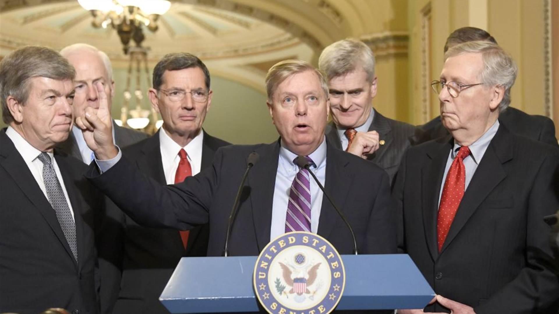 Handful of GOP senators hold latest health...