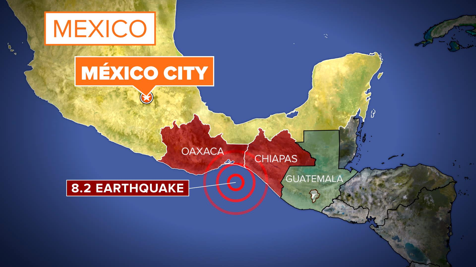 Destructive Mexico Quake Reminded Me So So Much Of - Mexico map hd