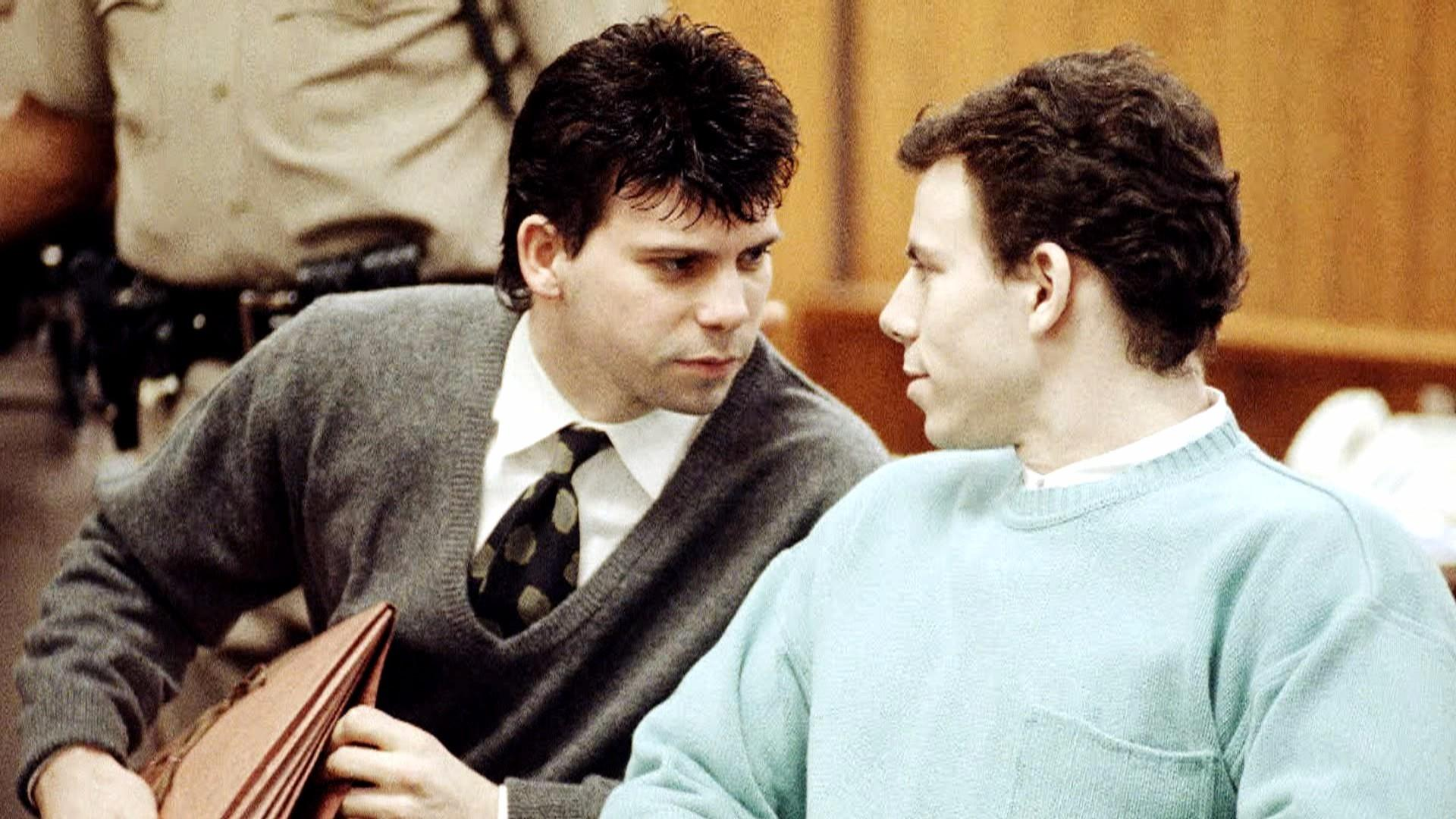 Menendez brothers' tearful reunion same prison wing after Menendez brothers crime scene pictures
