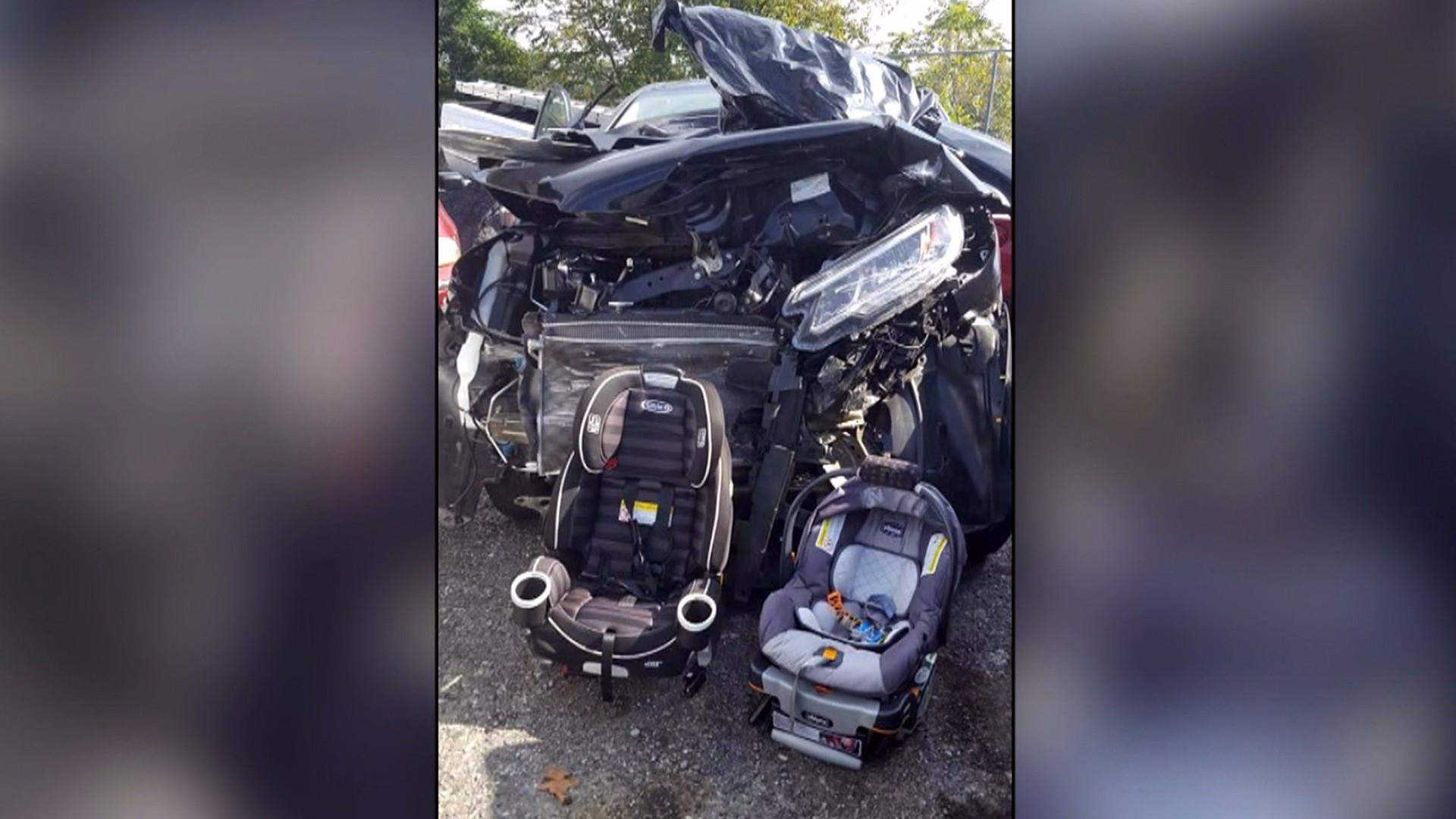 Mom texts about baby s car seat safety before car accident