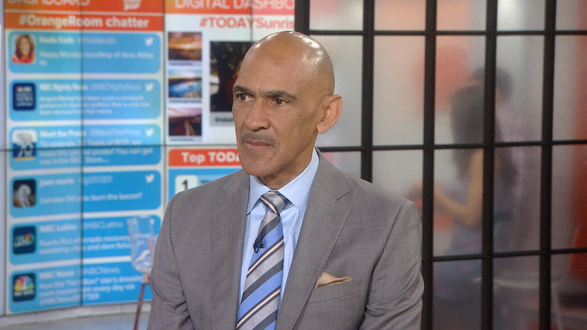 a biography of tony dungy a football player Rodney harrison harrison is a former professional american football player of the (right) along with colleagues dan patrick and tony dungy at a nfl.