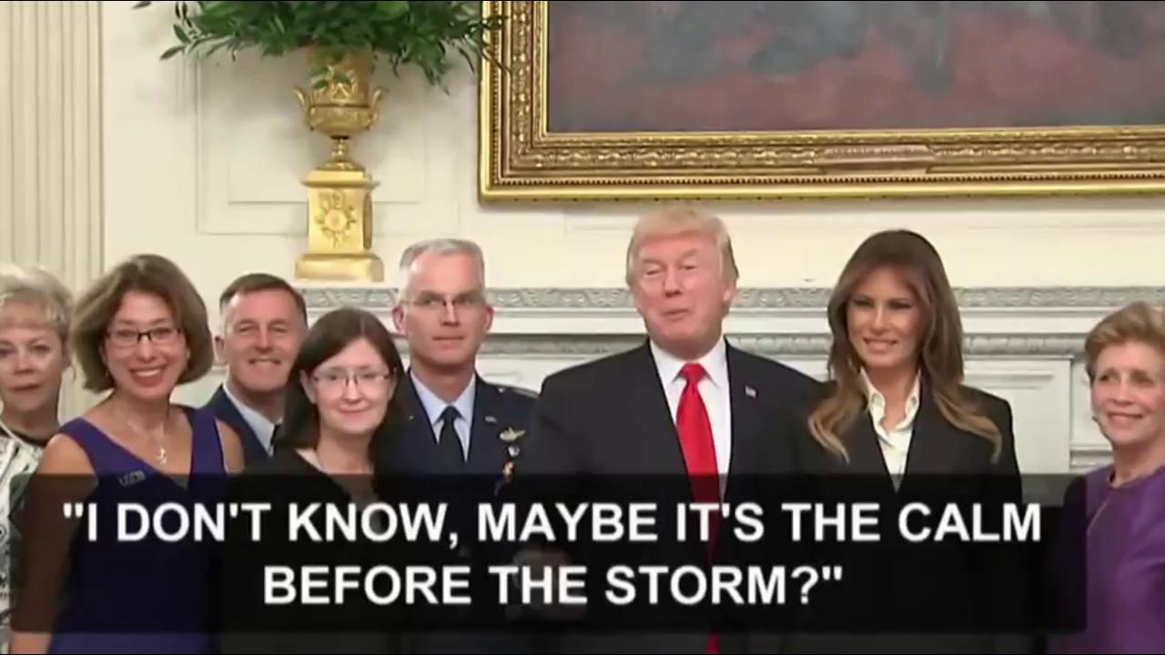 Trump 'storm' remarks for our adversaries:...
