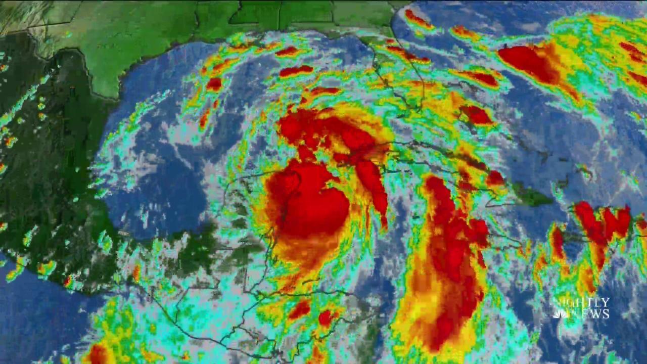 Tropical Storm Nate Headed For Gulf Coast Nbc News