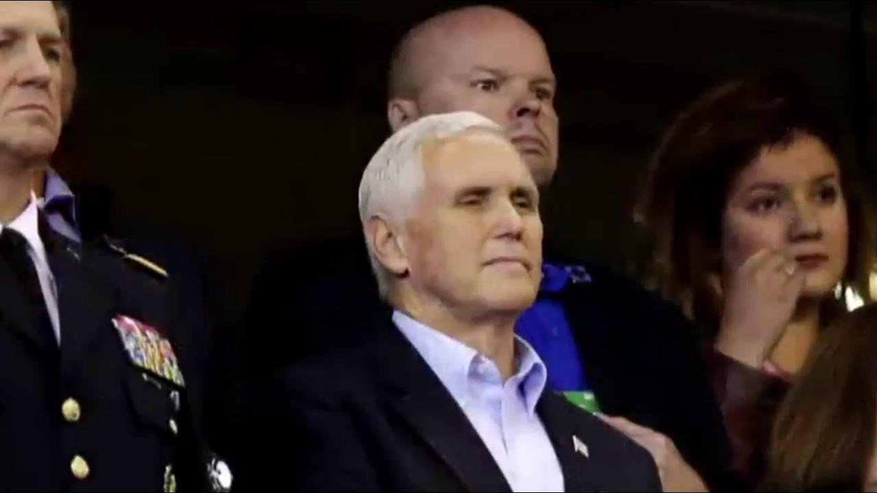 'This was a stunt': VP Pence leaves NFL game