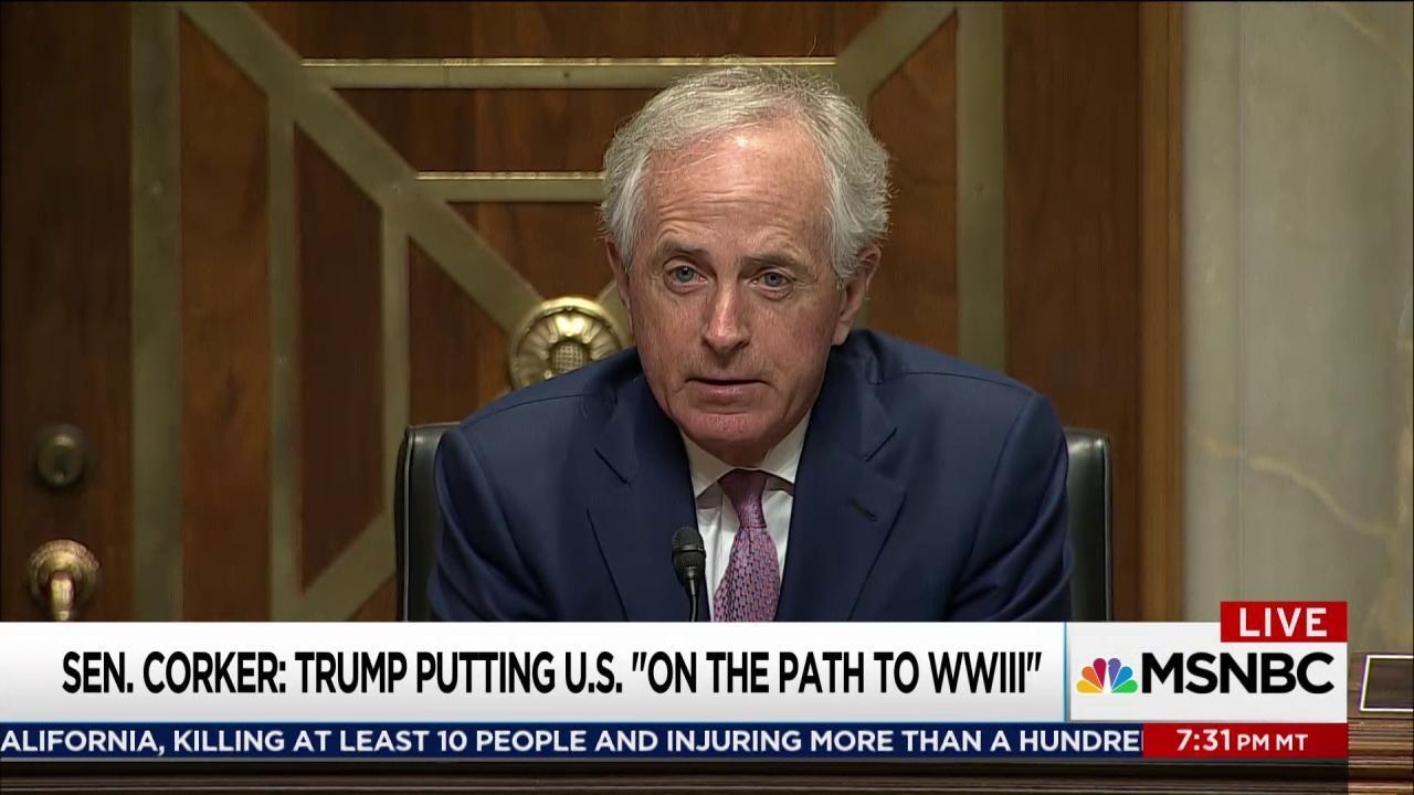 Corker interrupts Trump 'silent movie'
