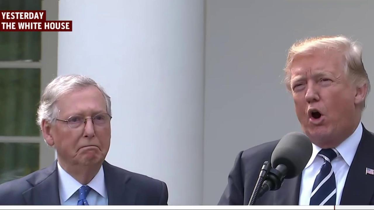 Joe: Why was Mitch McConnell there with...