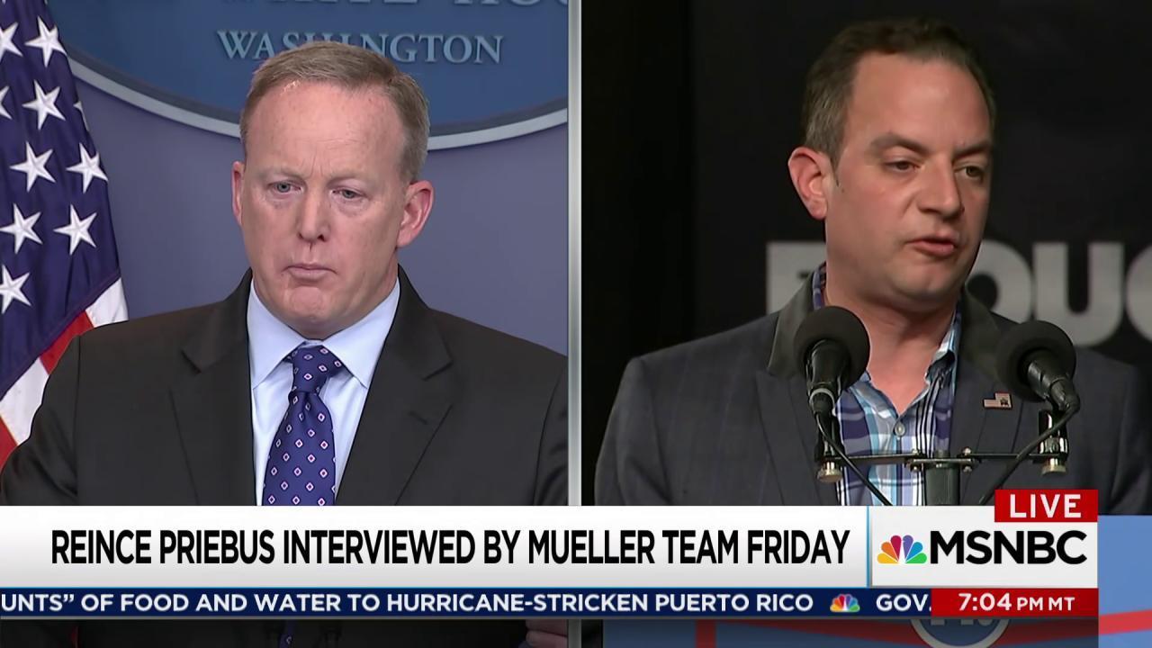 Mueller interviewing former Trump staffers