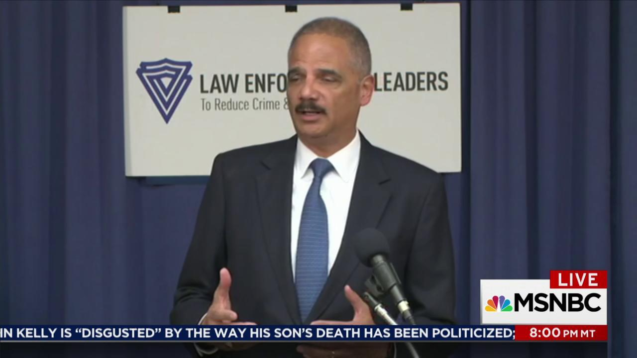 Eric Holder joins Rachel Maddow Monday 10/23
