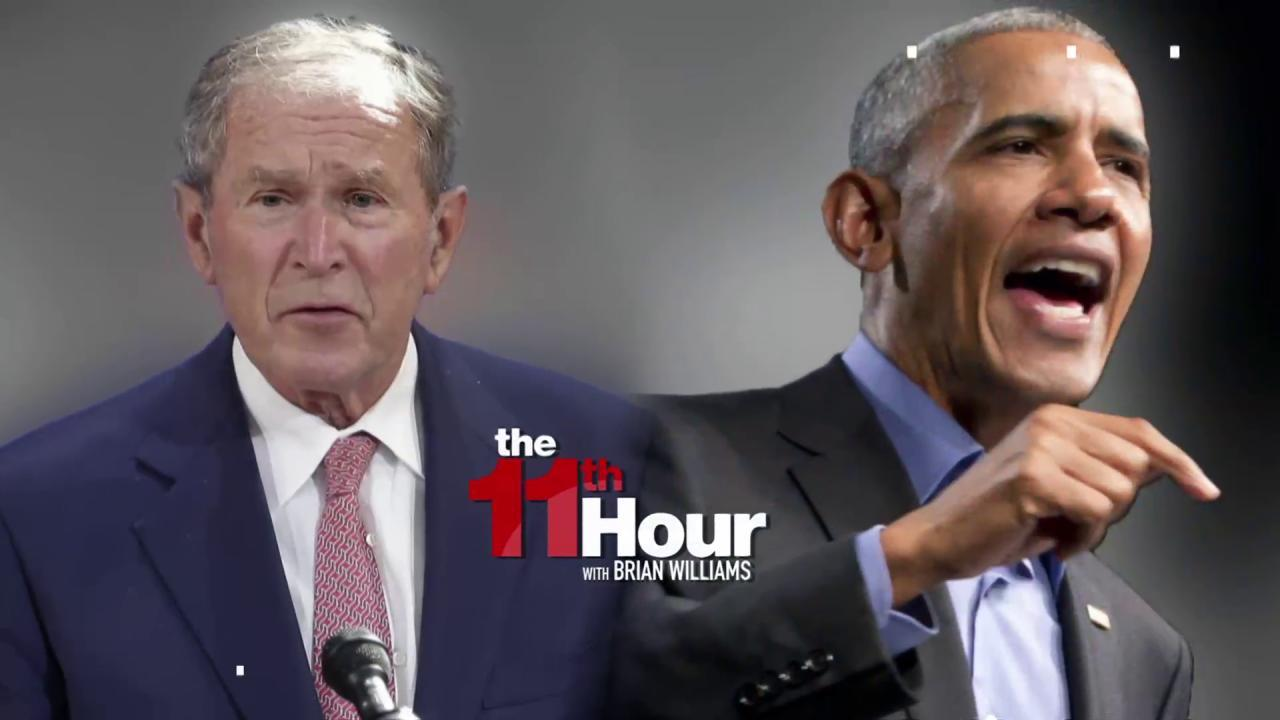 Obama & Bush both criticize Trump without...