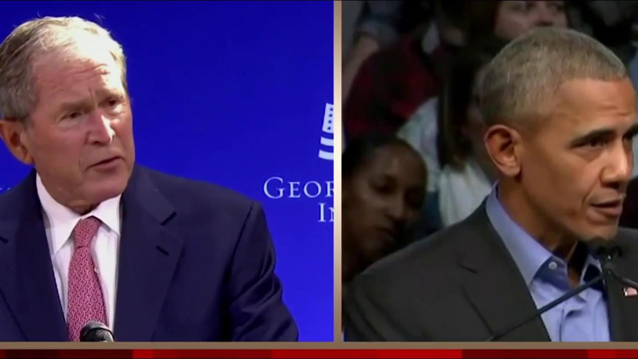 Bush, Obama speeches take aim at heart of...