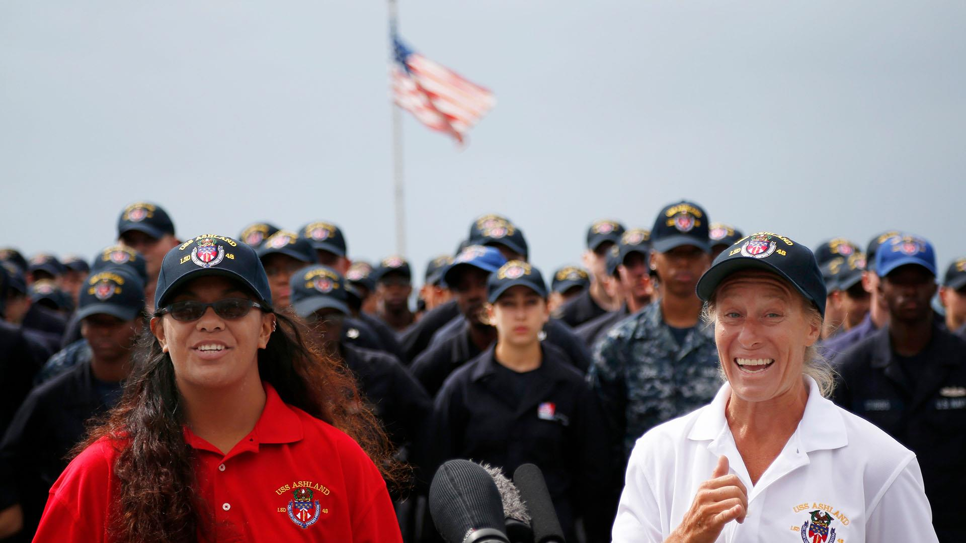 Sailors rescued in Pacific, Jennifer Appel and Tasha Fuiava pay tribute to U.S. Navy