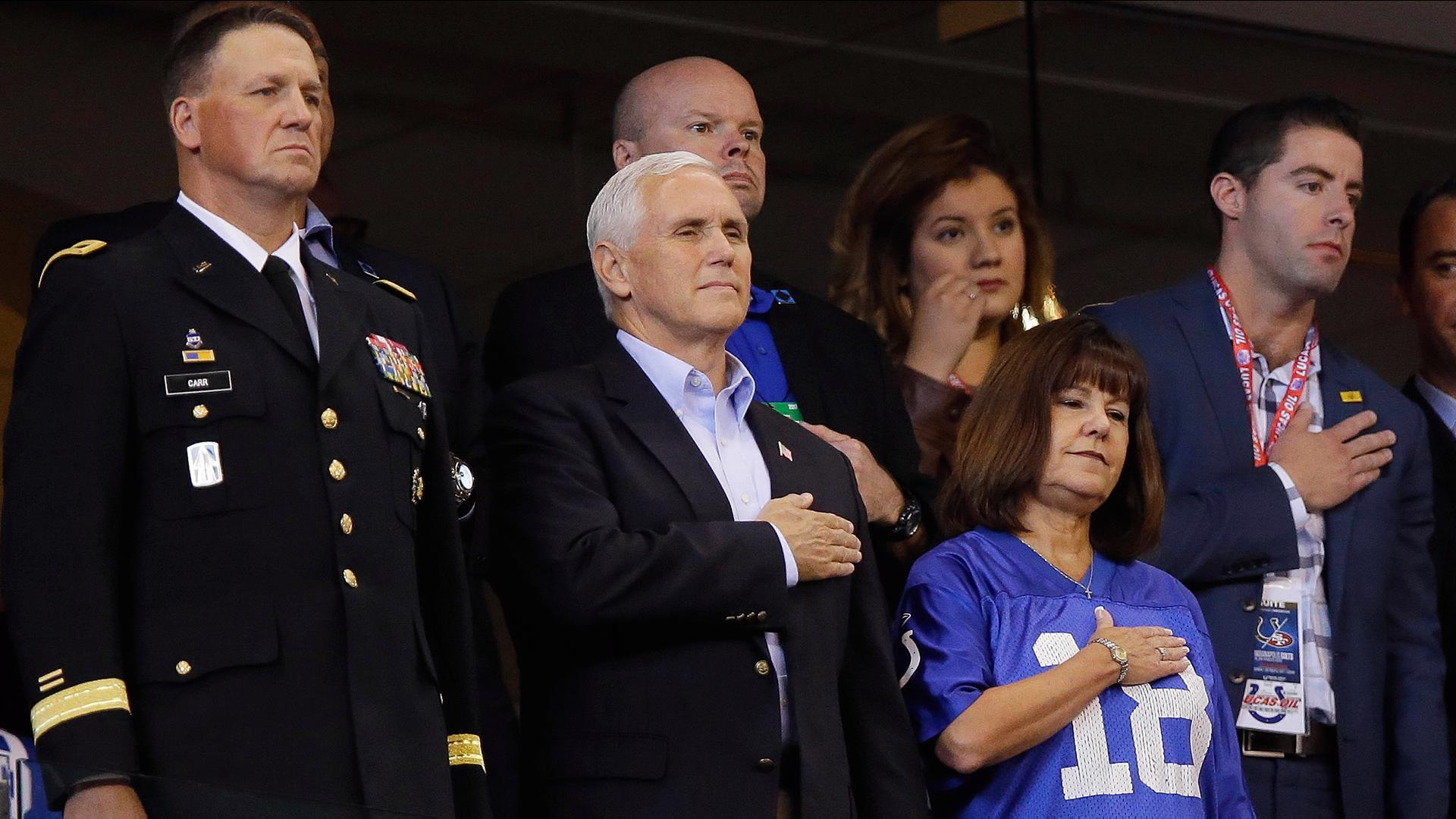 Pence Leaves NFL Game Over Anthem Controversy