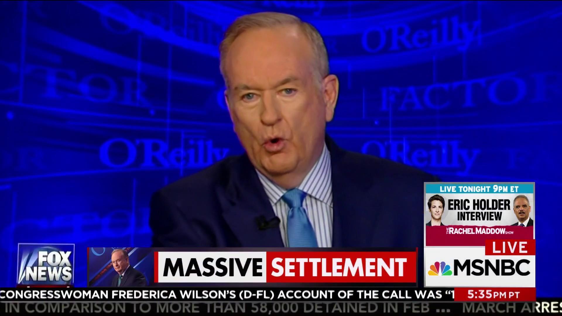Bill O'Reilly settled harassment claim for...