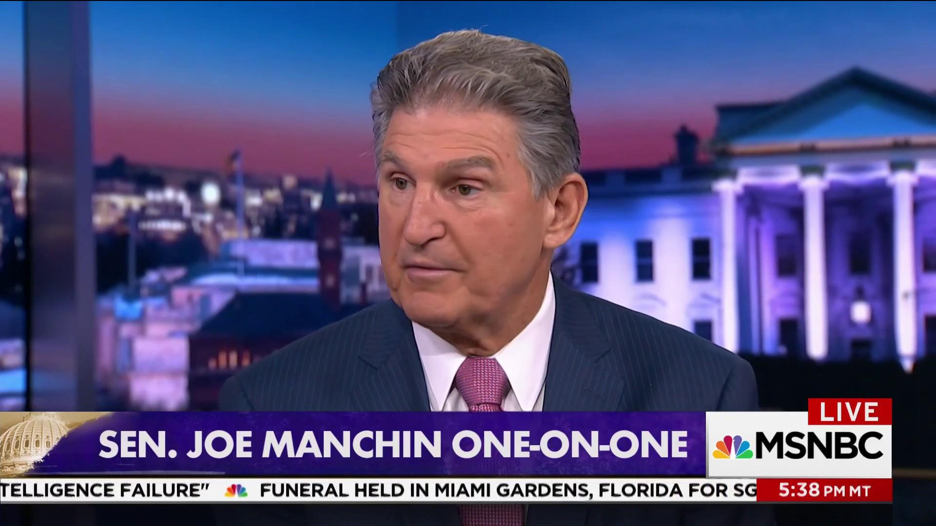 Why Manchin doesn't want Clinton...