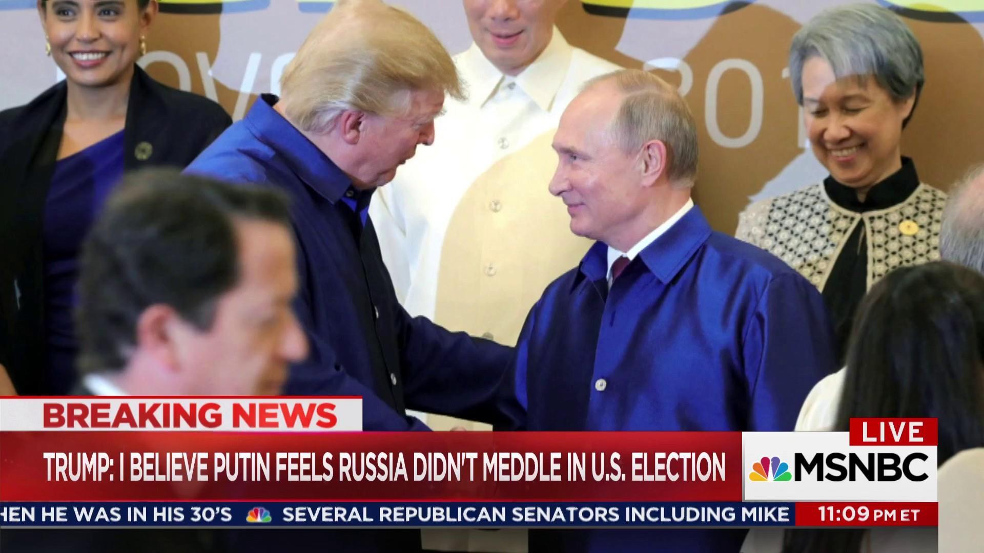 Trump compliments Putin & blasts fmr. U.S....