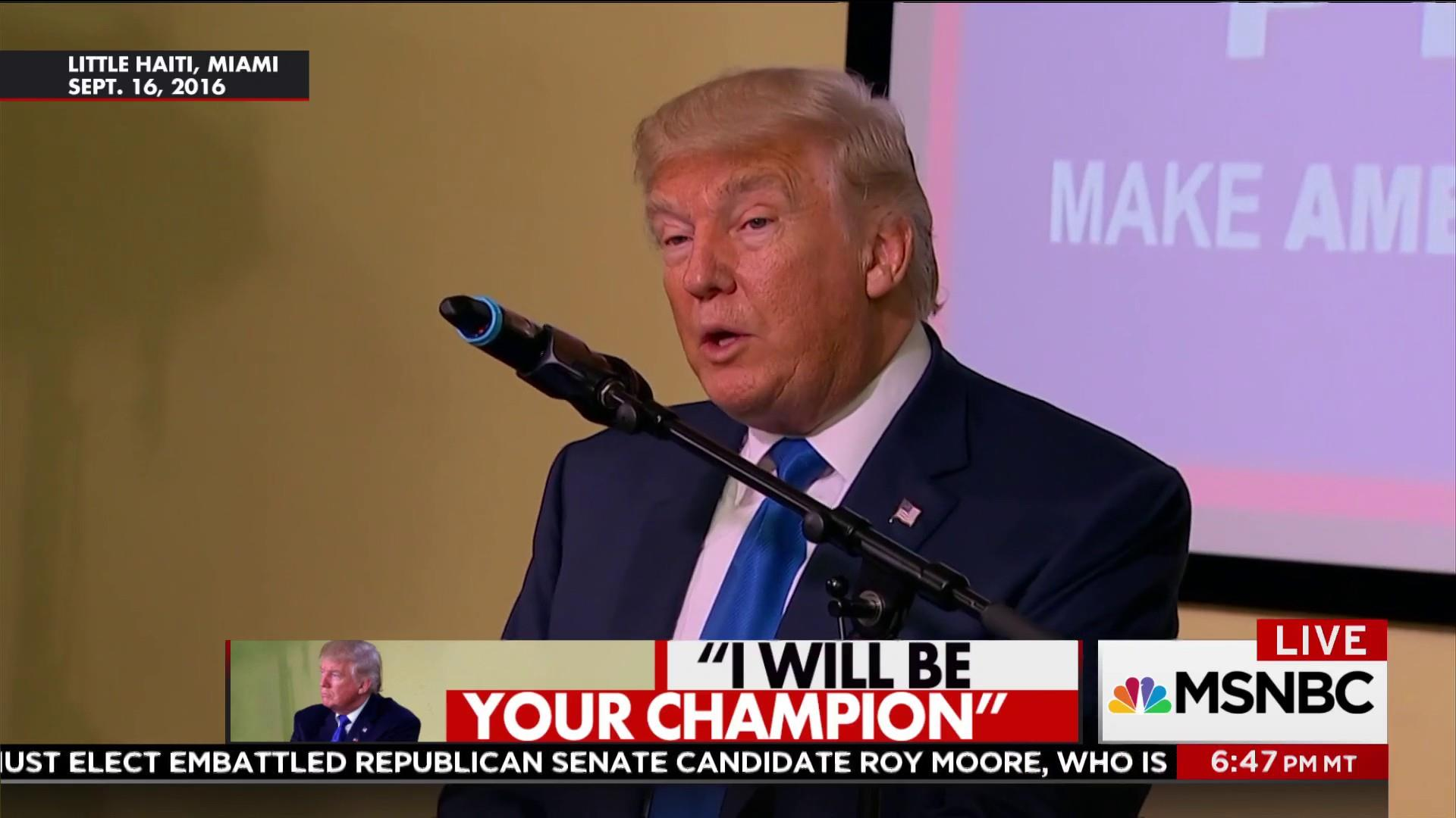 Trump hurts Haitians he promised to help