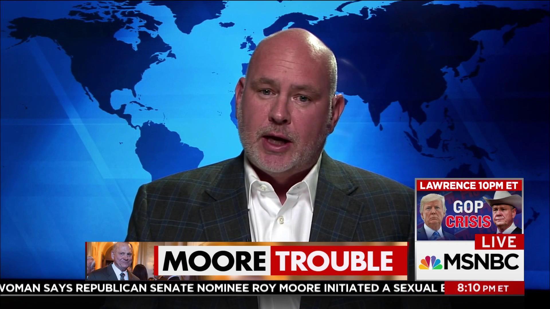 """Steve Schmidt: """"Roy Moore is a pedophile"""""""