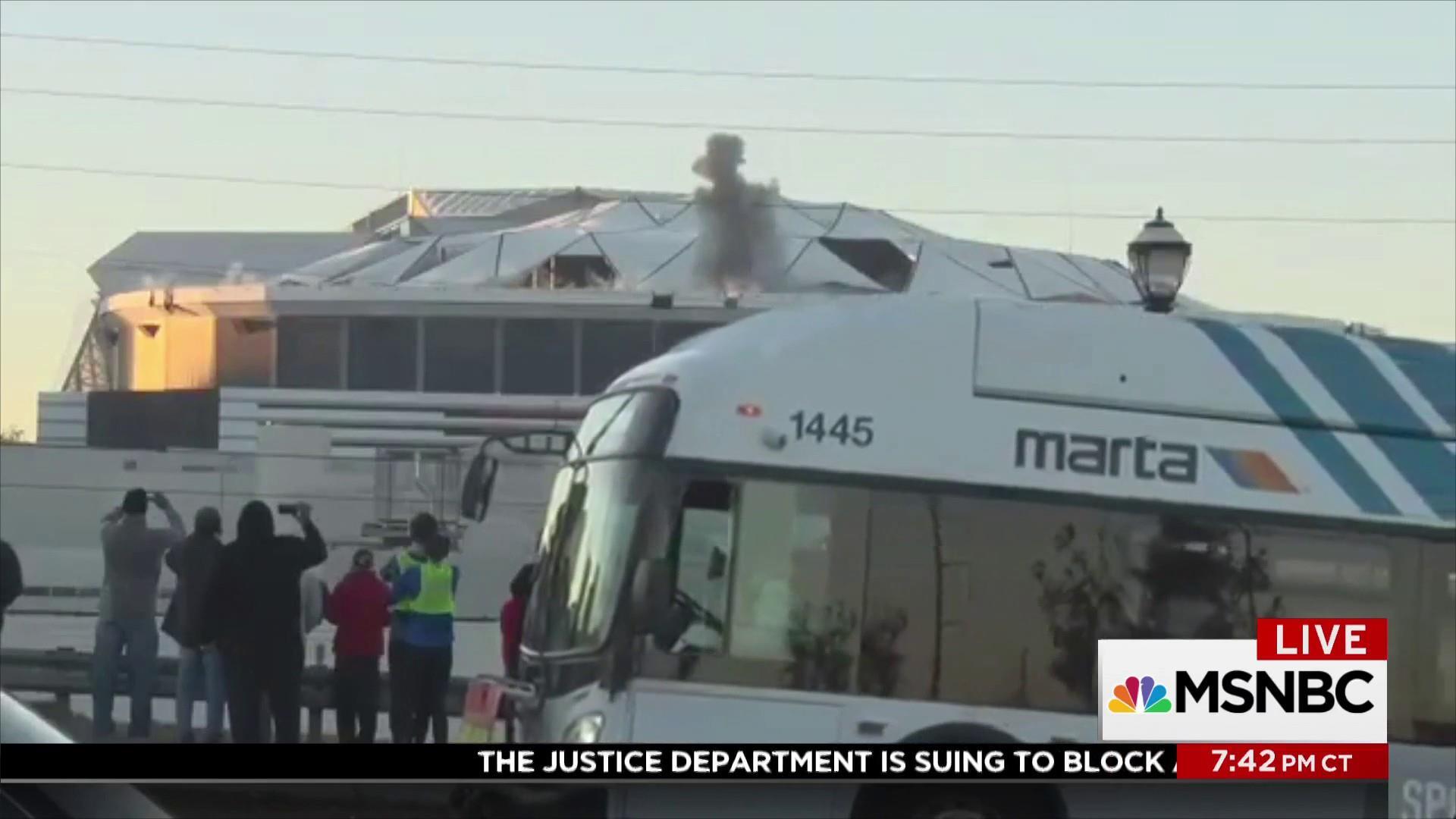 Perfect shot of Georgia Dome implosion...