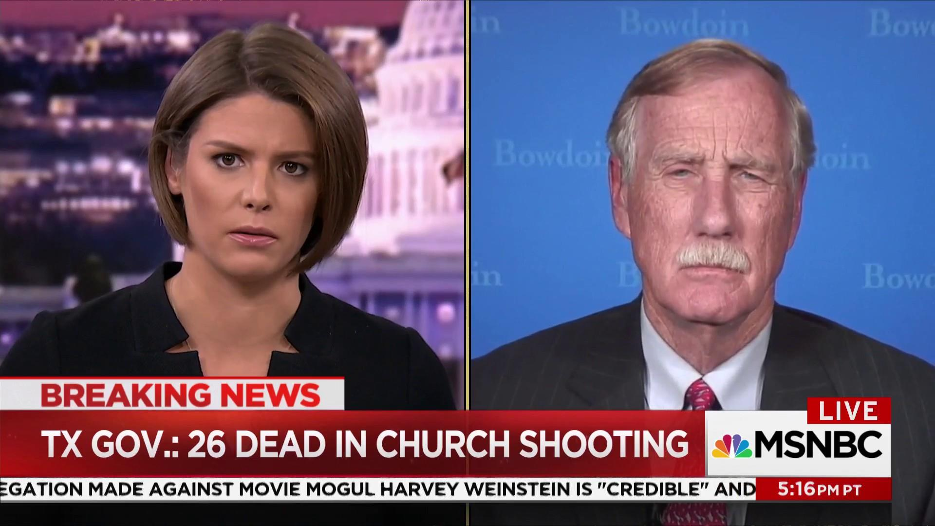 Sen. Angus King talks breaking news in...