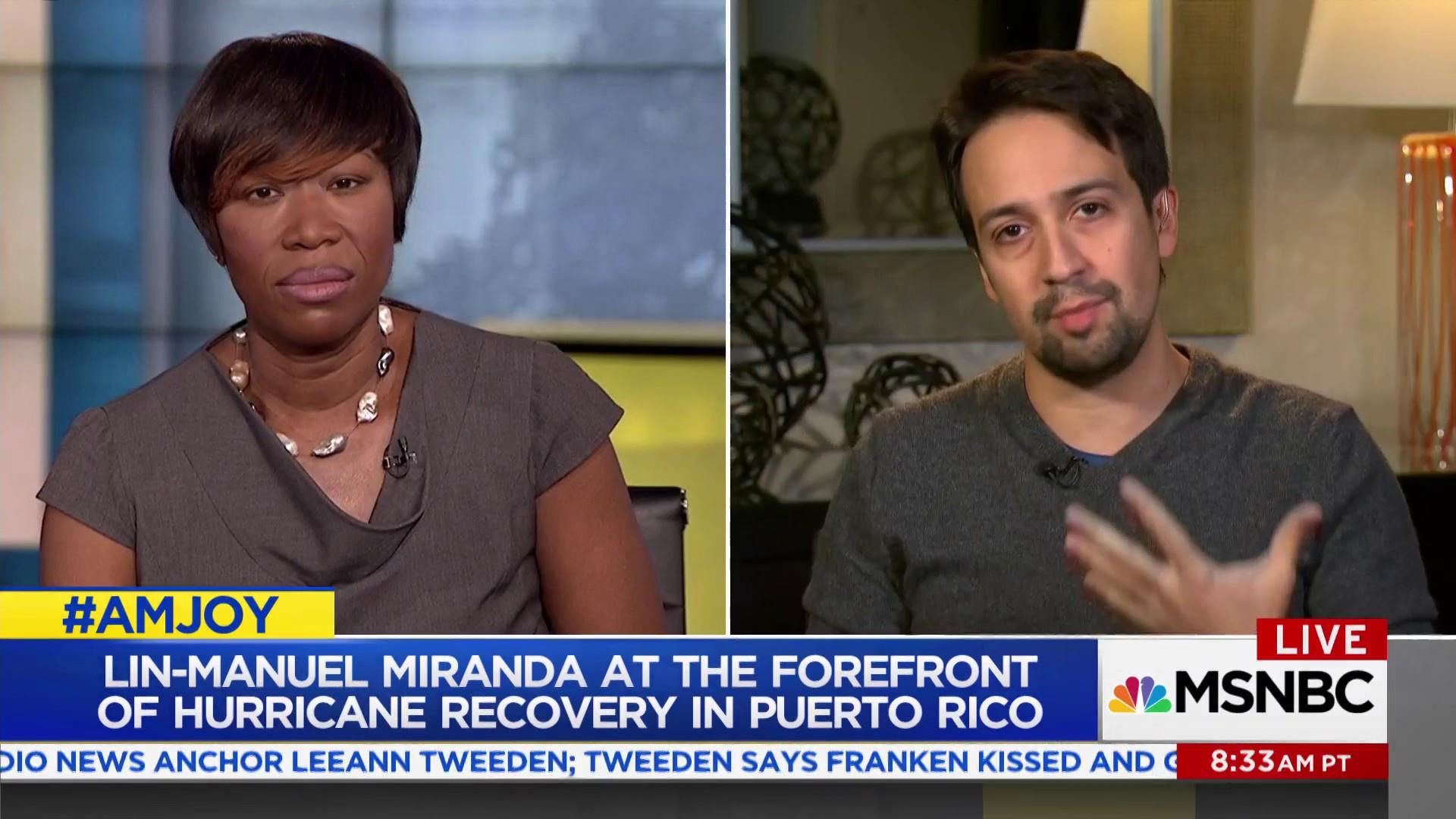 Lin-Manuel Miranda speaks out for Puerto...